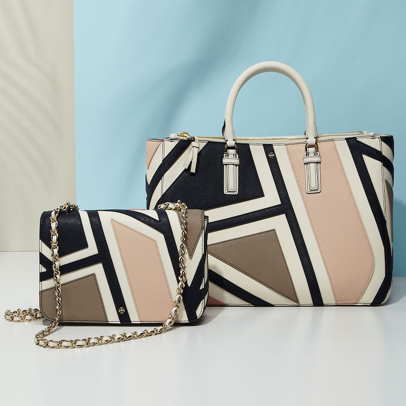 Tory Burch Robinson Fret Patchwork Bags