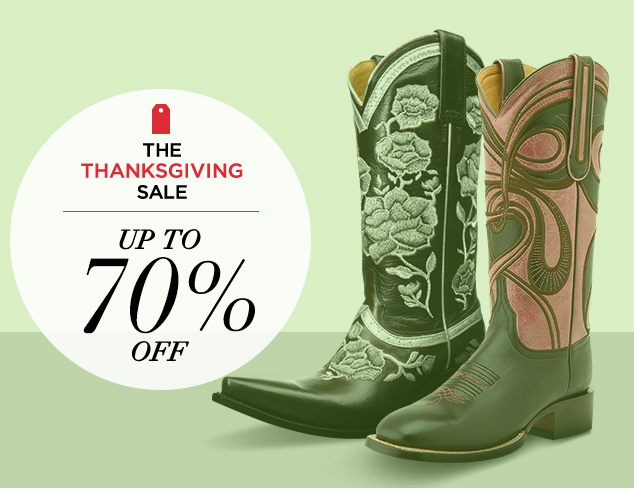 Up to 70 Off Western Boots & More feat. Lucchese at MYHABIT
