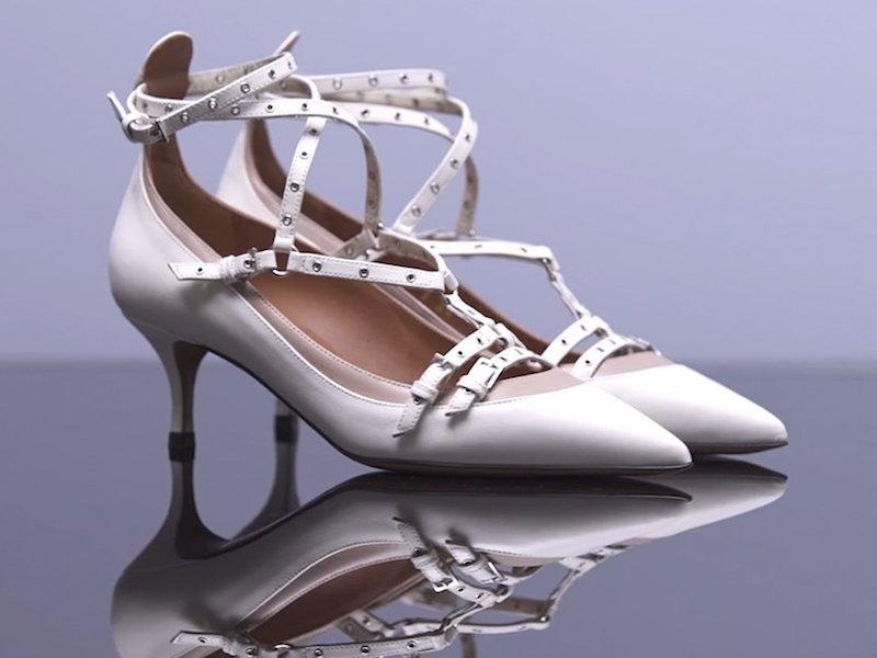 Valentino Love Latch Leather Small-stiletto Pumps