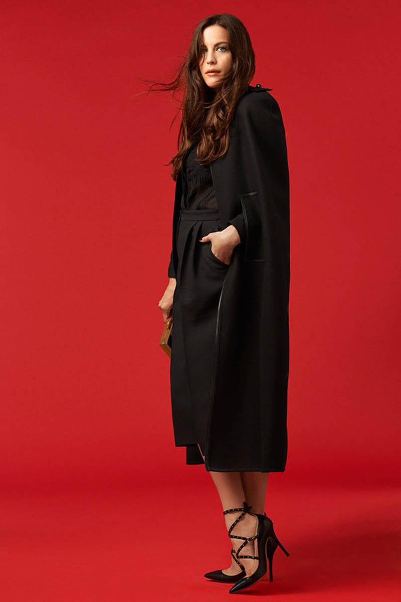 Valentino Wool and Angora-blend Cape