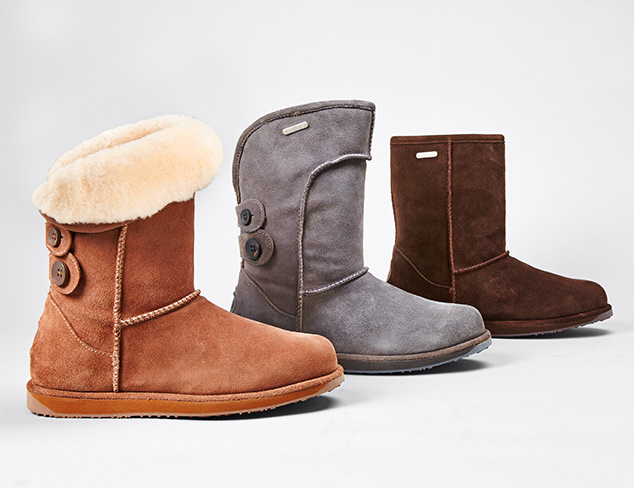 Winter Chic Shearling Boots feat. EMU Australia at MYHABIT