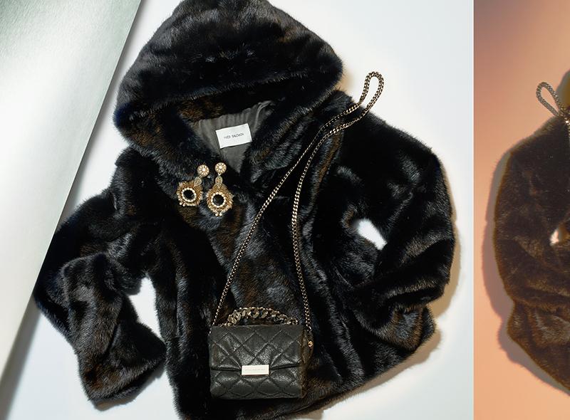 Yves Salomon Chevron Hooded Mink Fur Jacket
