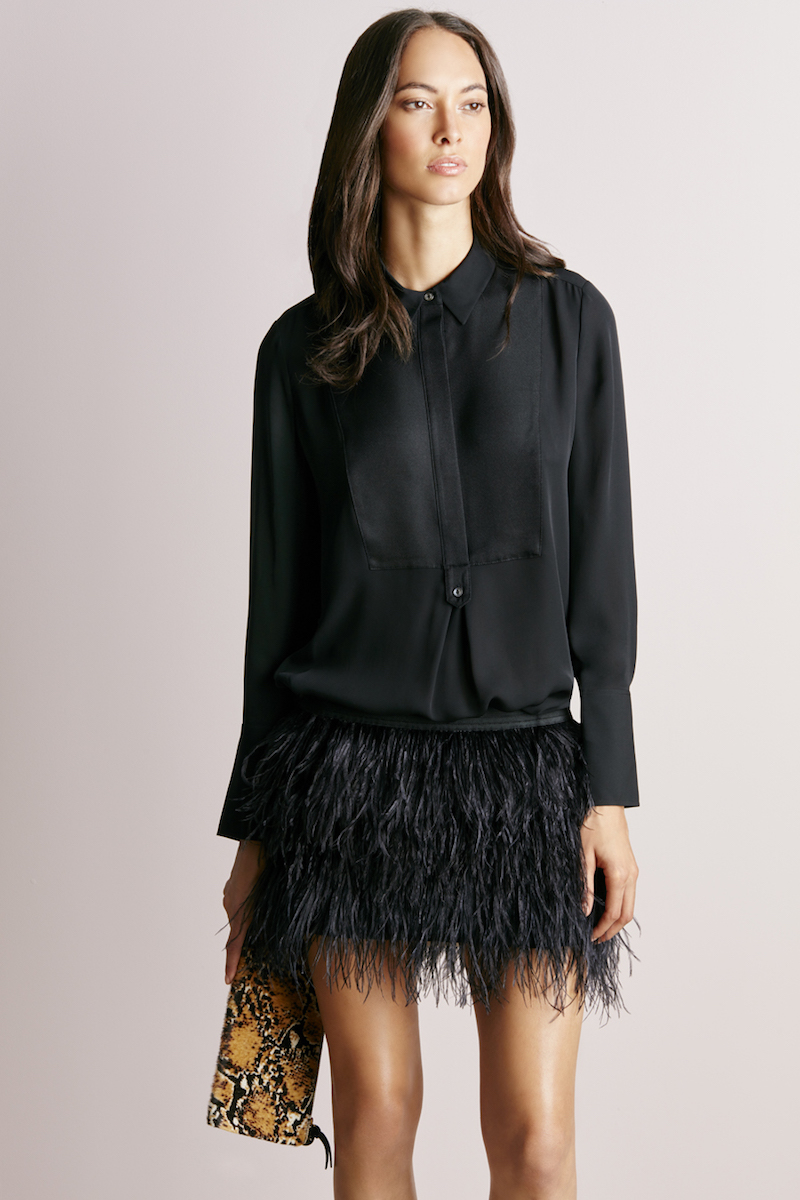 mason by michelle mason Feather Mini Skirt