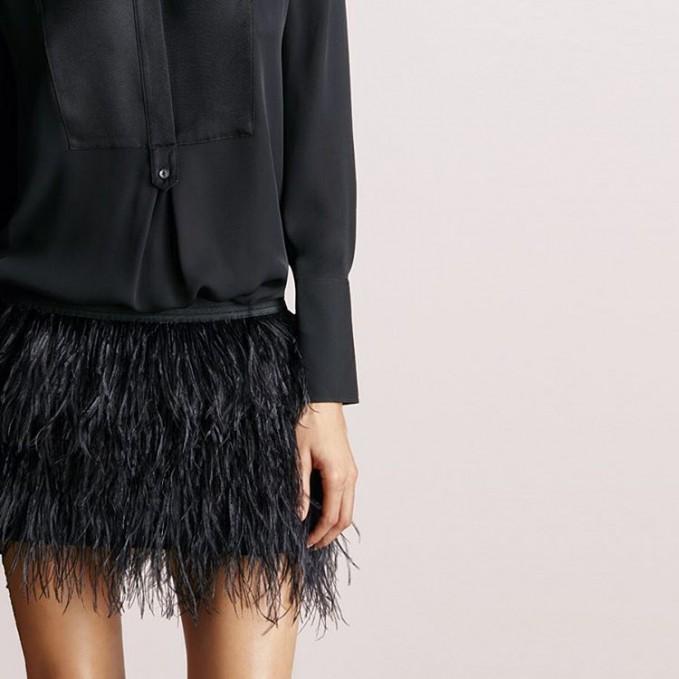 mason by michelle mason Feather Mini Skirt_1