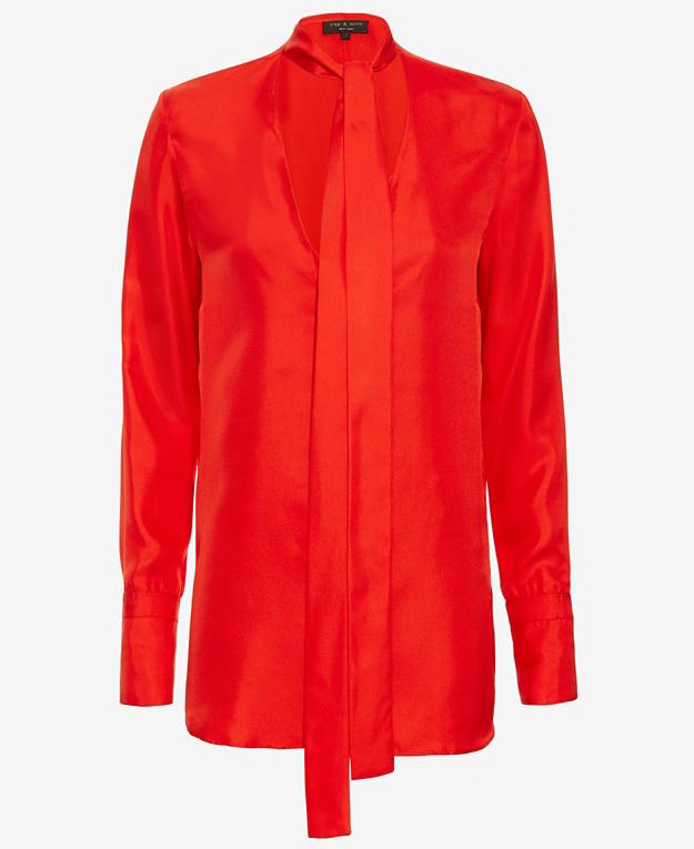 rag & bone Florence Tie Neck Blouse_1