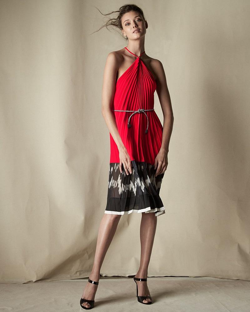 Altuzarra Printed Chiffon Halter Dress