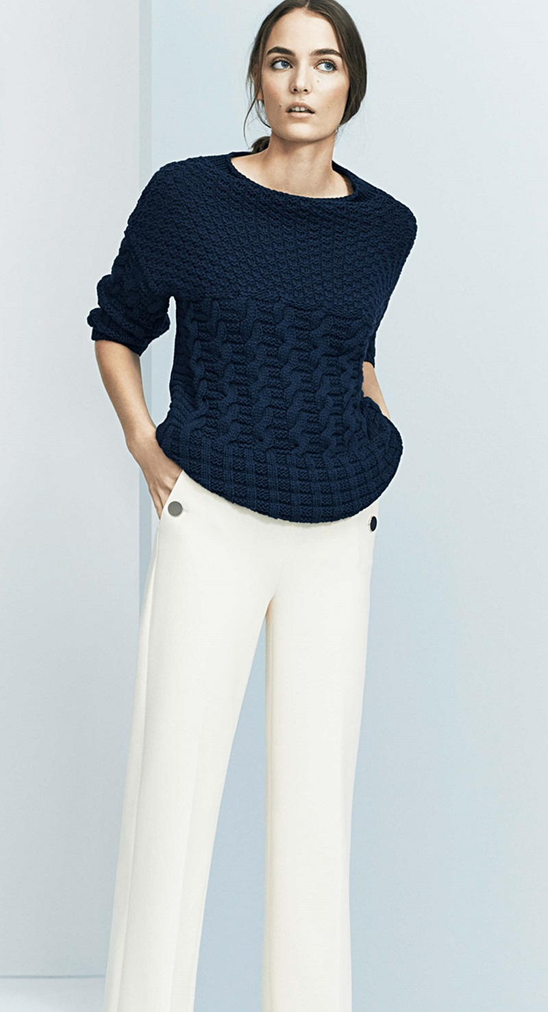 Ann Taylor Mixed Cable Sweater