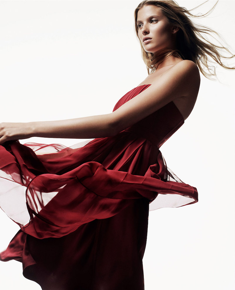 Ann Taylor Pleated Strapless Dress