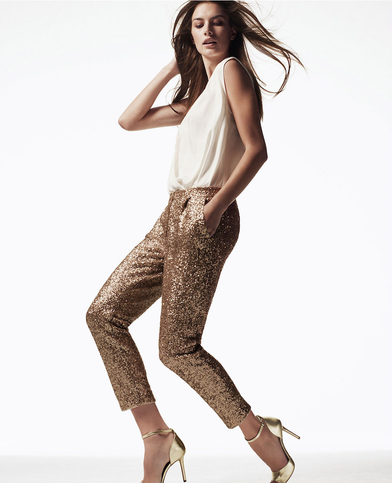 Ann Taylor Sequin Ankle Pants