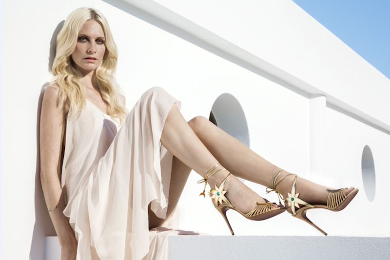Aquazzura x Poppy Delevingne Midnight Sandals