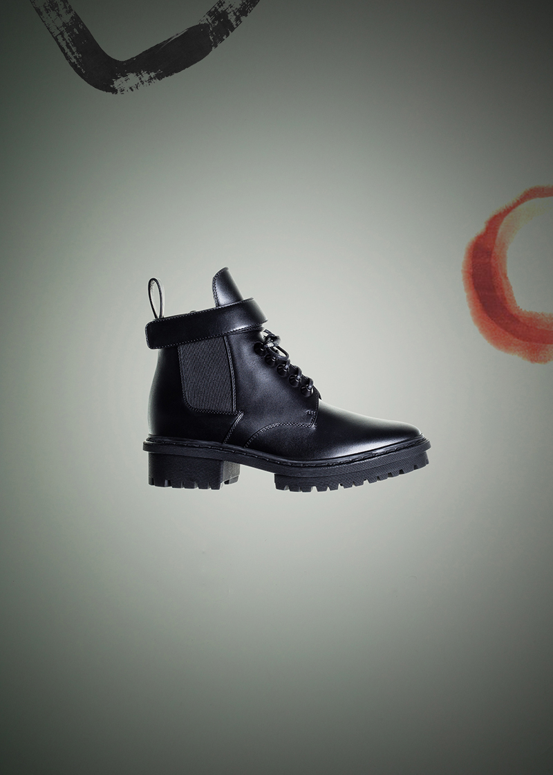 Balenciaga Unit Leather Ankle Boots