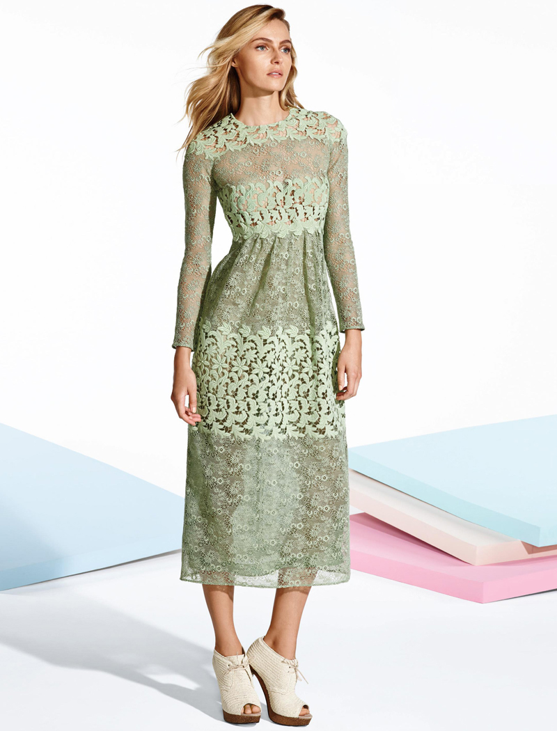 Burberry Prorsum Floral Macrame Lace Dress