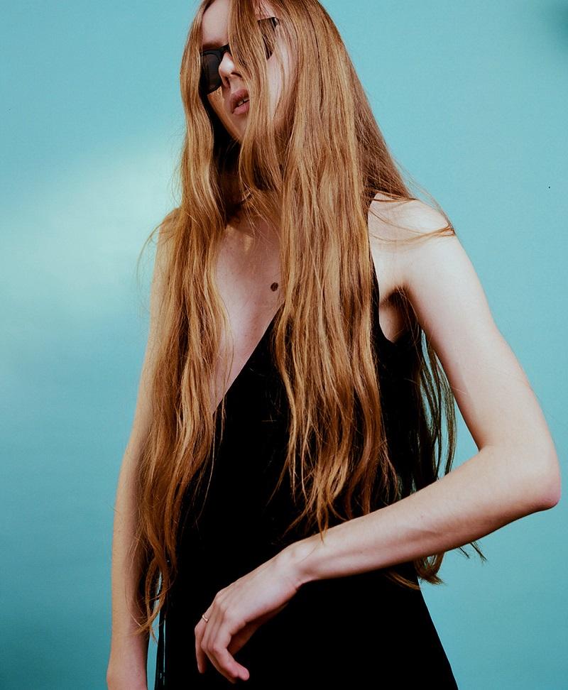 Chloé Black Fluid Velvet Dress