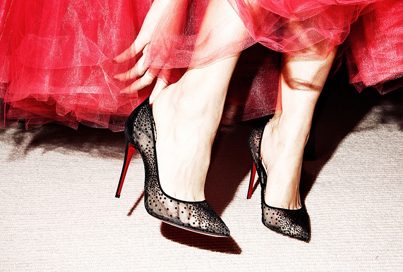 Christian Louboutin Follies Lace Pumps