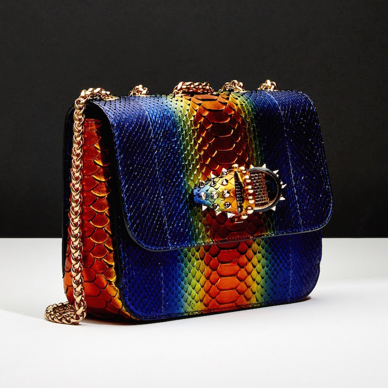 Christian Louboutin Python Sweet Charity Small Shoulder Bag