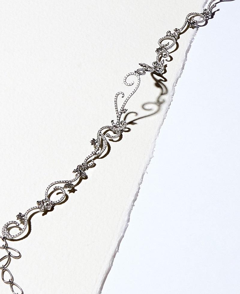 Diane Kordas diamond & black-gold Vine necklace