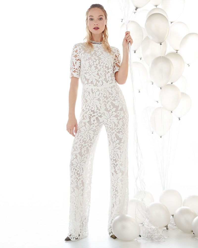 Diane von Furstenberg Kendra Floral-Lace Jumpsuit