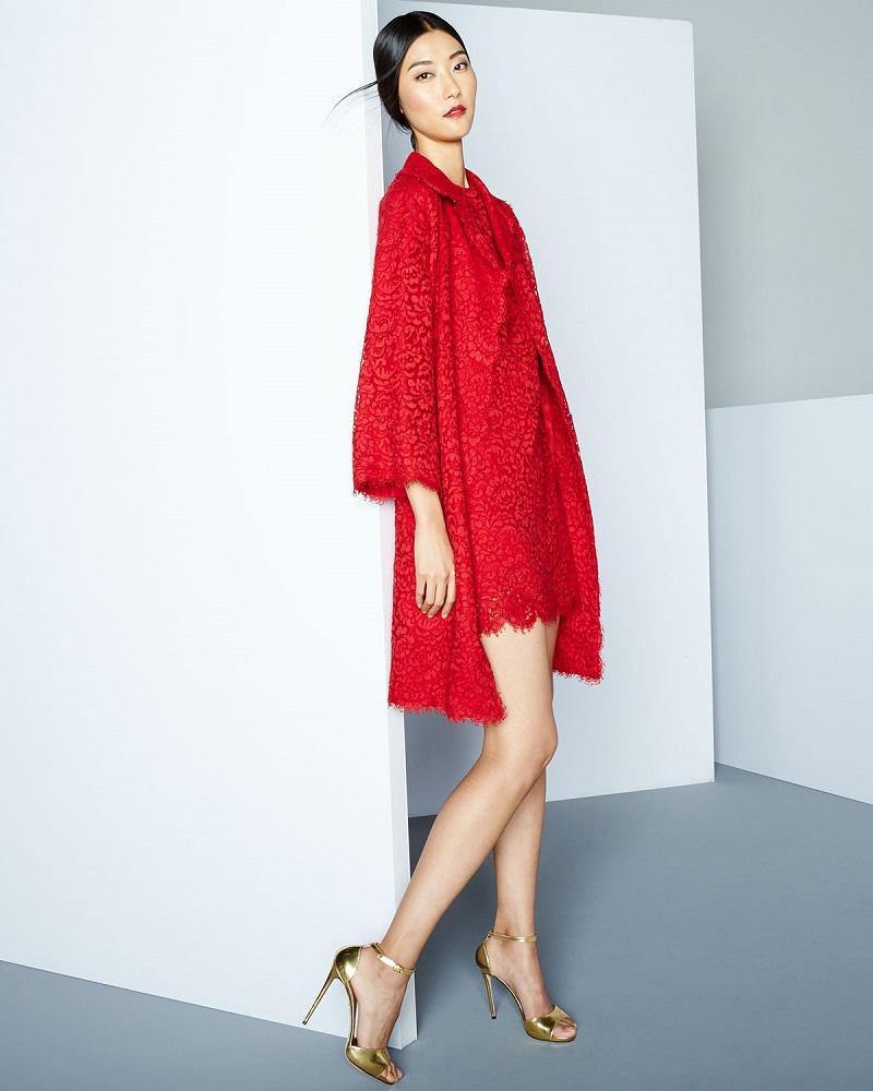 Dolce & Gabbana Cordonetto Lace Topper Coat