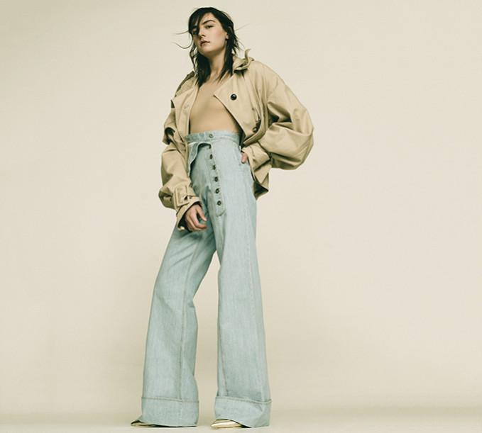 Each x Other High Waist Wide Leg Cotton Denim Jeans