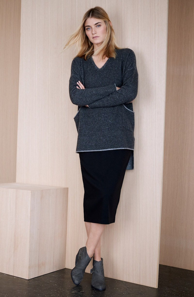 Eileen Fisher Midi Ponte Pencil Skirt