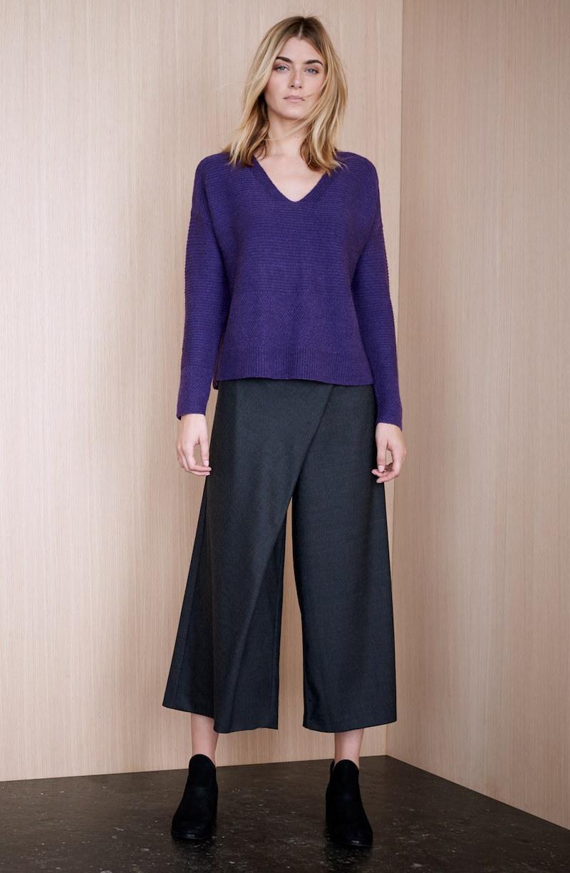 Eileen Fisher Wool Twill Sarong Pants