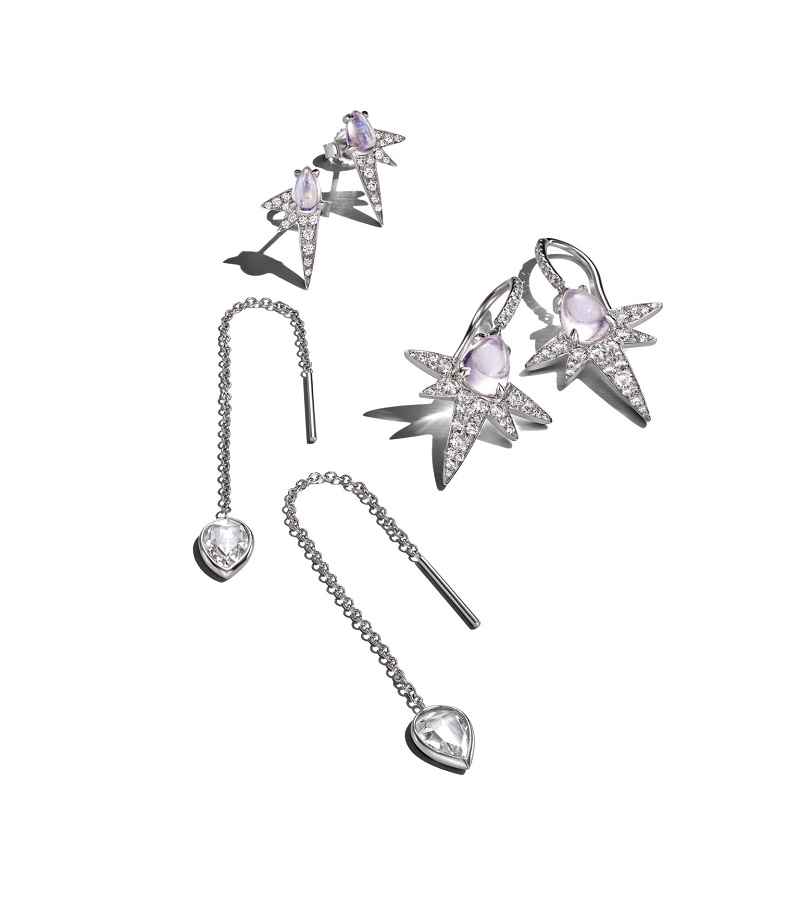 Finn Moonstone Spike Earrings