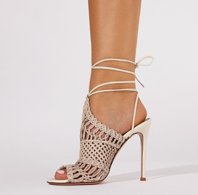 Gianvito Rossi Allyson Braided Leather Sandals