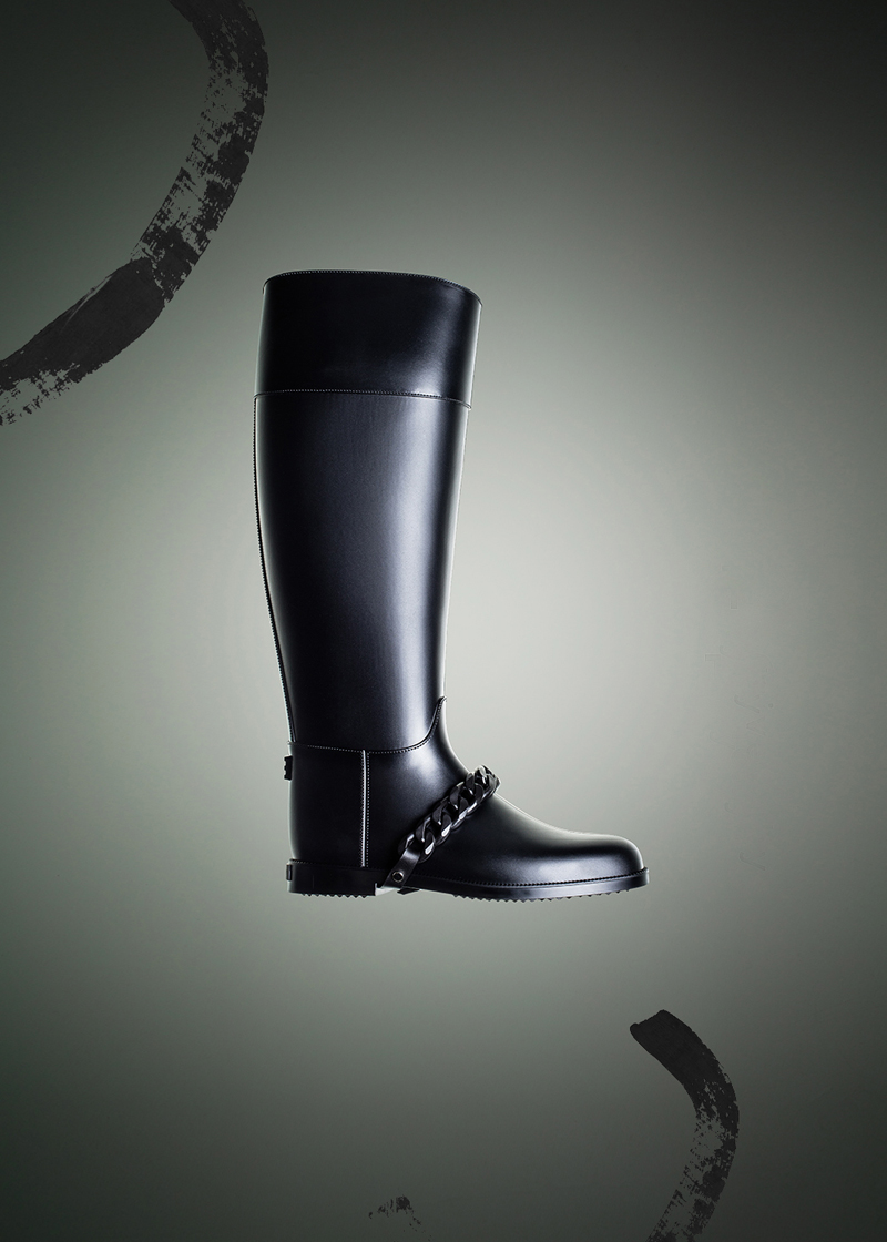 Givenchy Eva Rain PVC Boots with Chain Detail