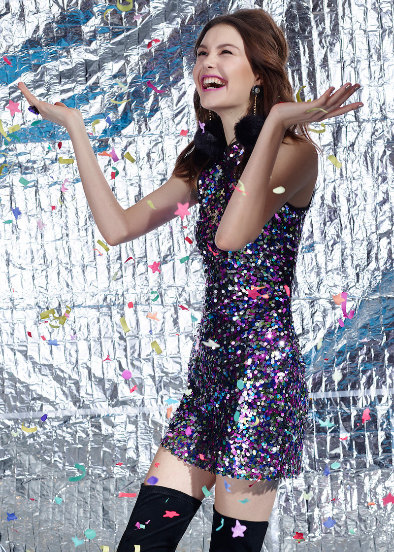Glamorous Flash Forward Sequin Mini Dress