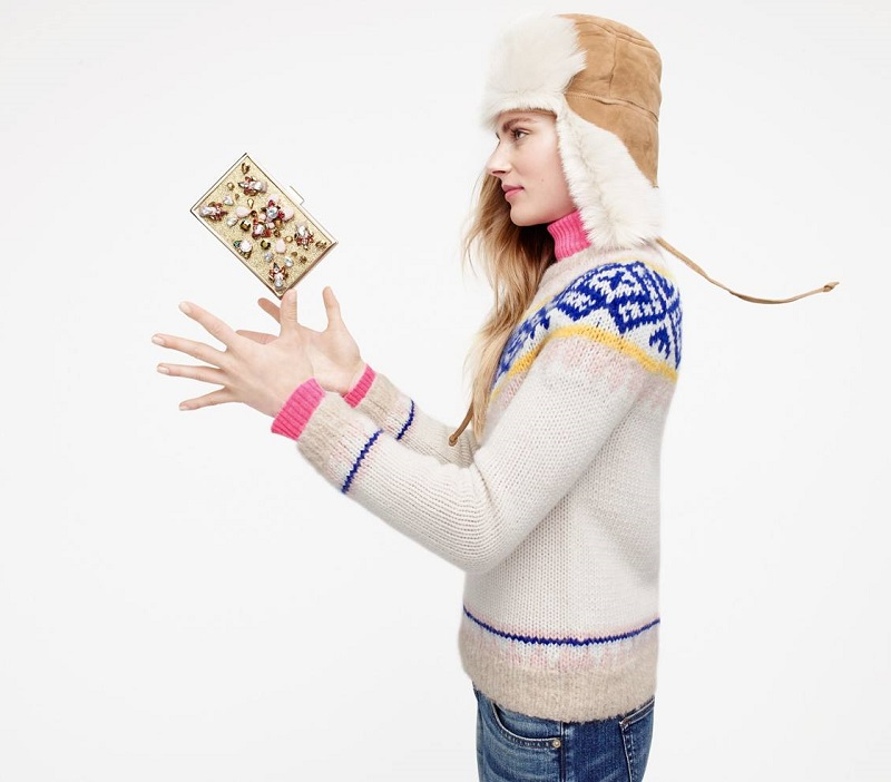 J.Crew Collection Fair Isle sweater in Italian yarn
