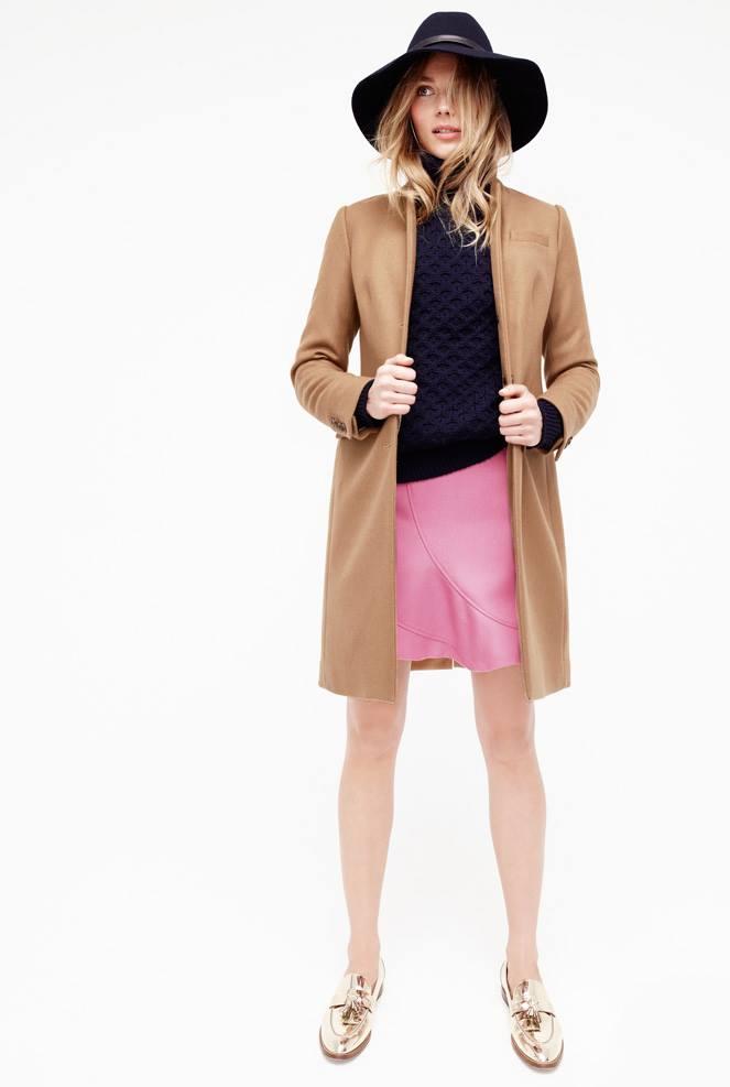 J.Crew Flutter mini skirt in double-serge wool