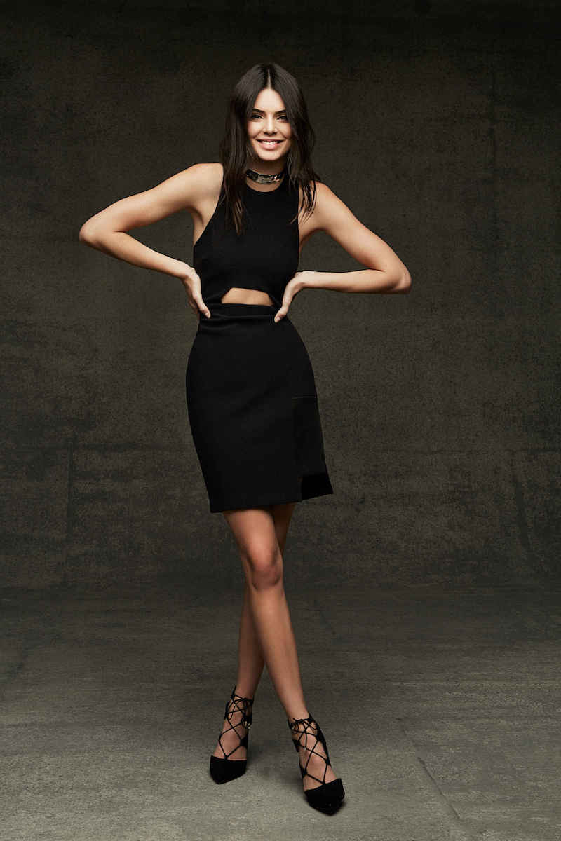 Kendall + Kylie at Topshop Cutout Body-Con Dress