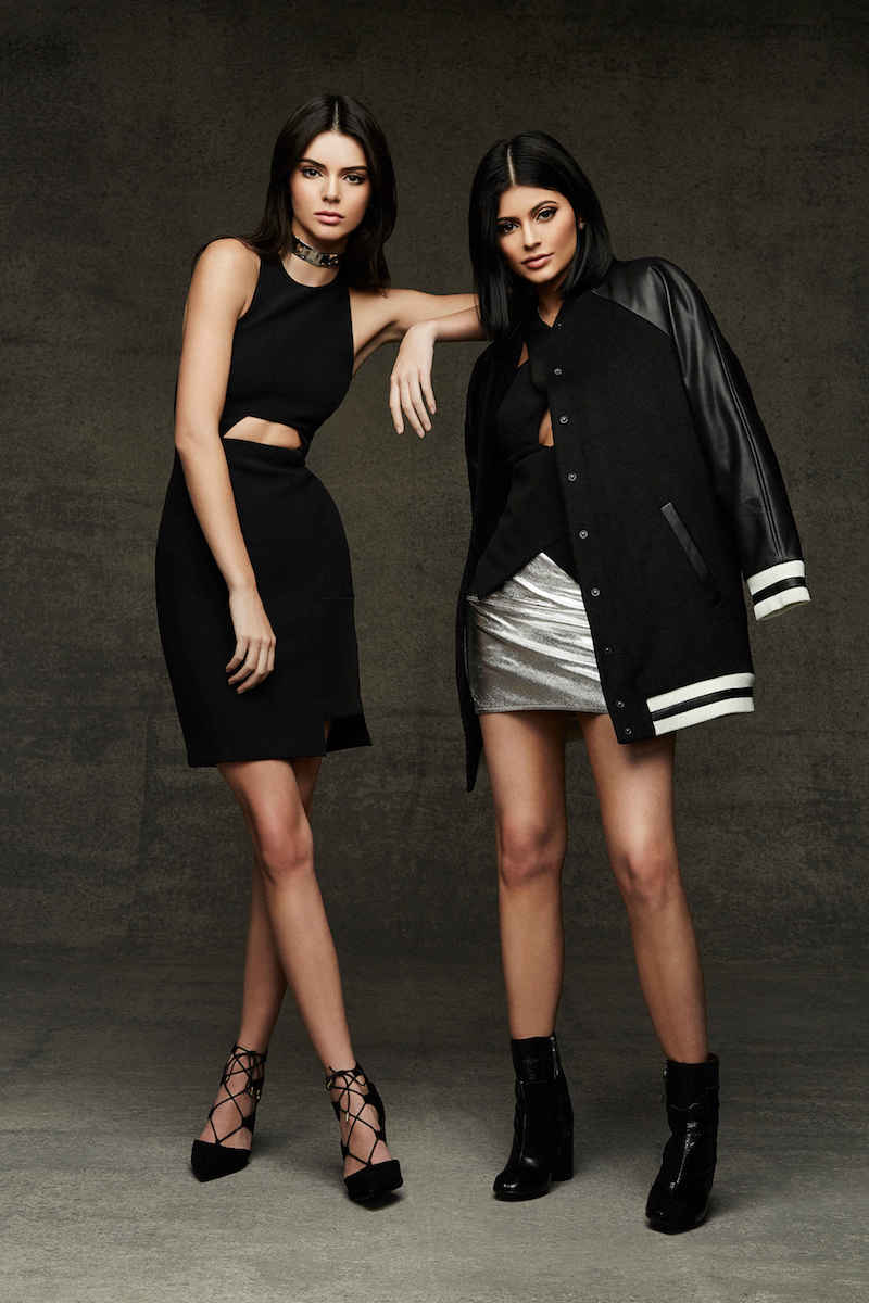 Kendall + Kylie at Topshop Metallic Leather Miniskirt