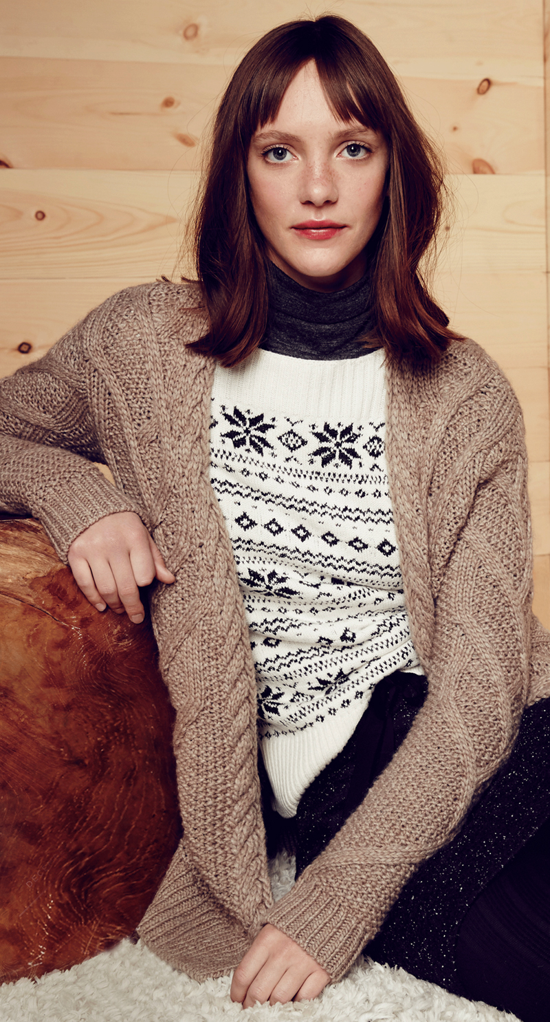 LOFT Petite Sequin Snowflake Sweater