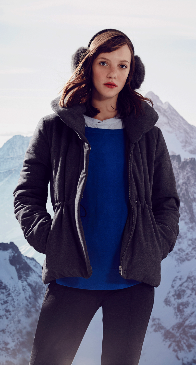 LOFT Shawl Collar Puffer Jacket