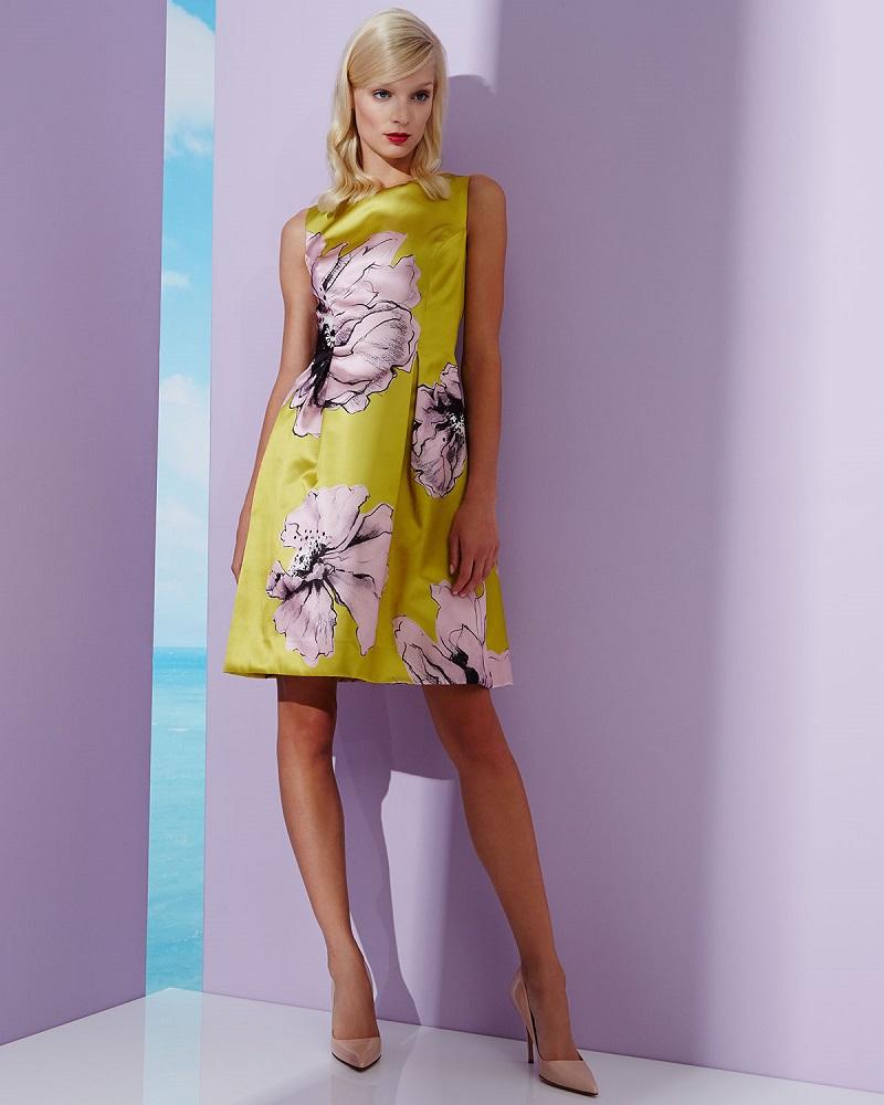 Lela Rose Oversized Floral-Print Sheath Dress