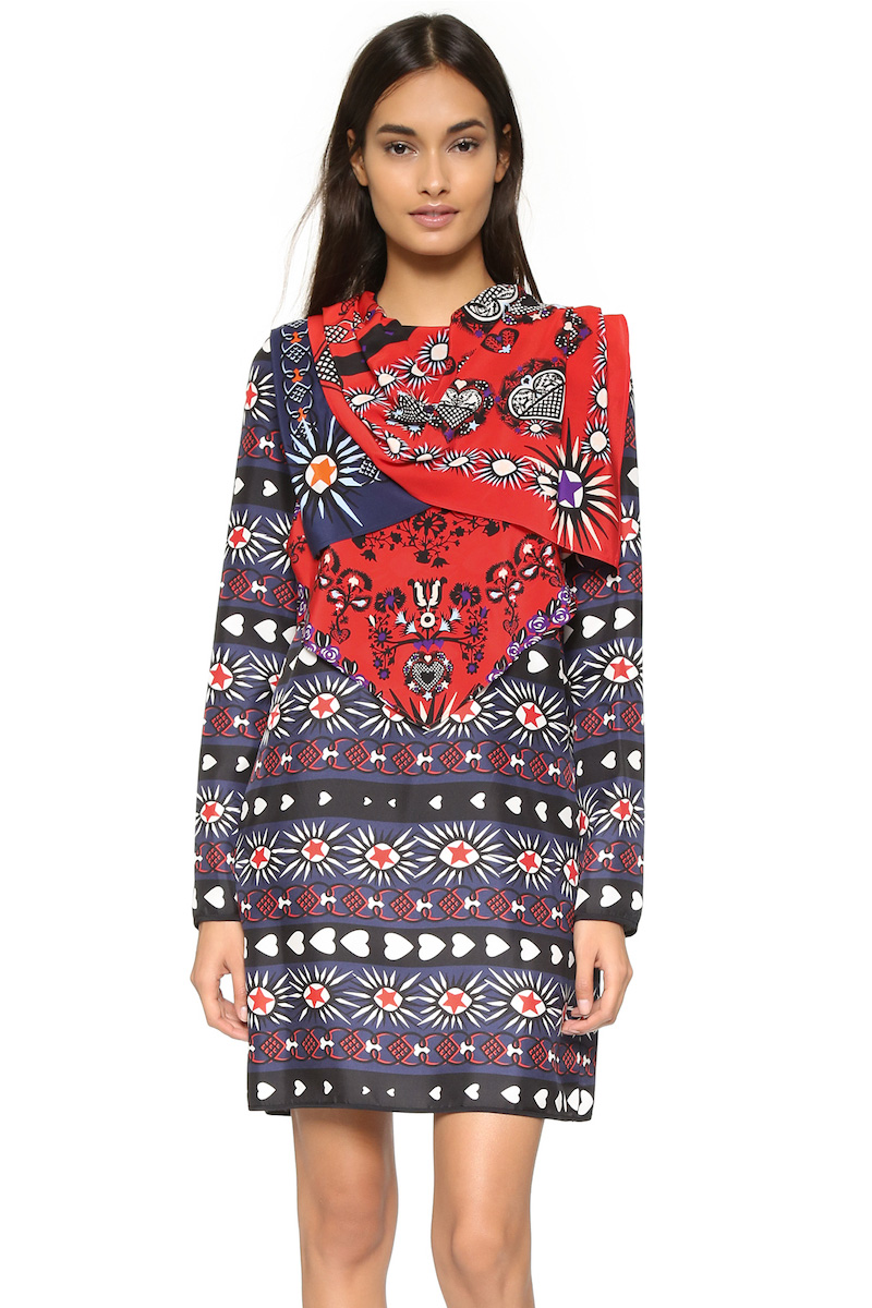 MSGM Long Sleeve Dress with Bandana
