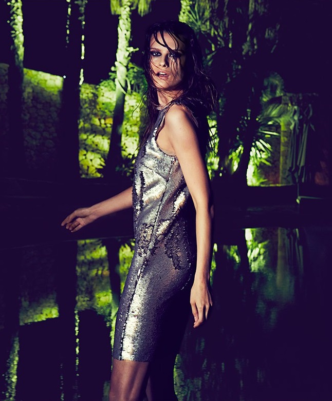 Maison Margiela Reverse-sequin raw-edge dress