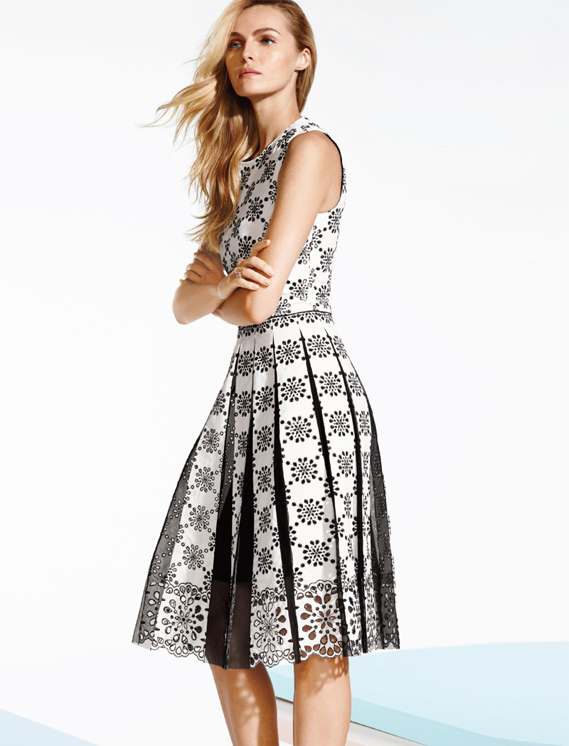 Marc Jacobs Pleated Broderie Anglaise Dress