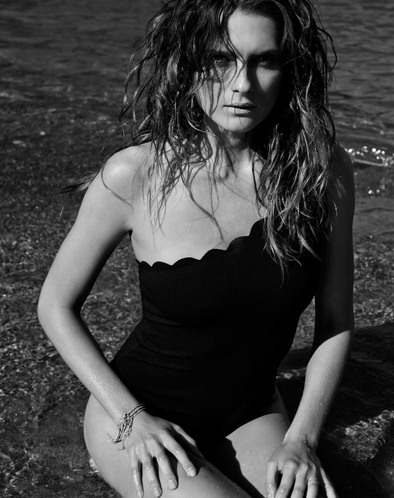 Marysia Swim Santa Barbara scallop-edge swimsuit