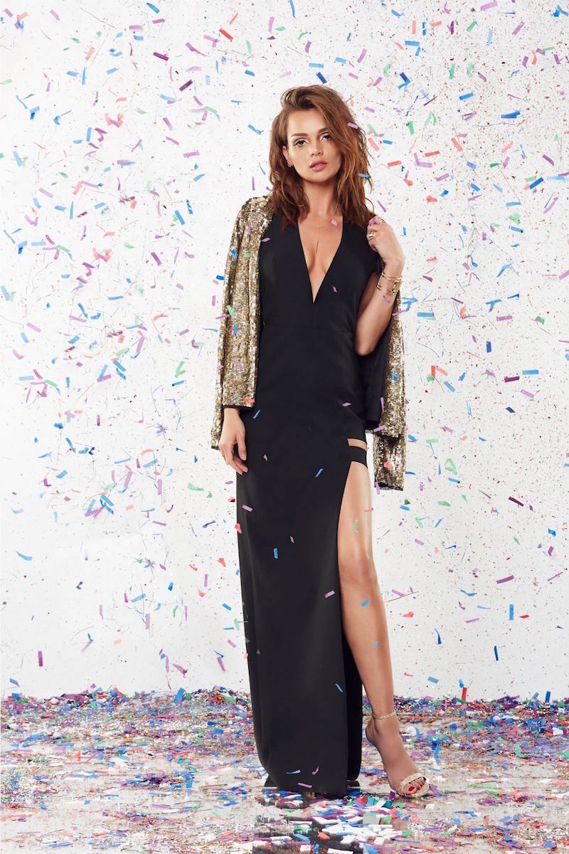 Mason by Michelle Mason Cage Plunge Gown