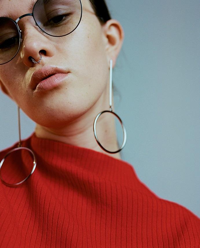 Mykita Silver & Blue Olsen Sunglasses