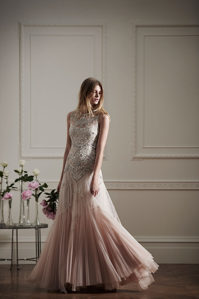 Needle & Thread embellished embroidered tulle gown