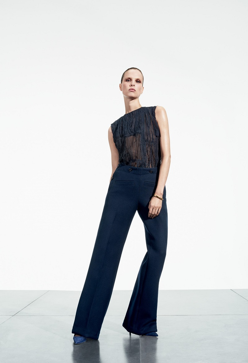 Nina Ricci Sailor Wide-Leg Trousers
