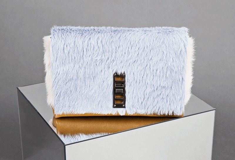 Proenza Schouler Elliot Fur Clutch Bag