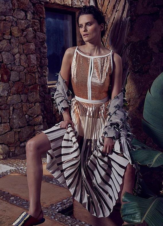 Proenza Schouler Open-back pleated midi dress