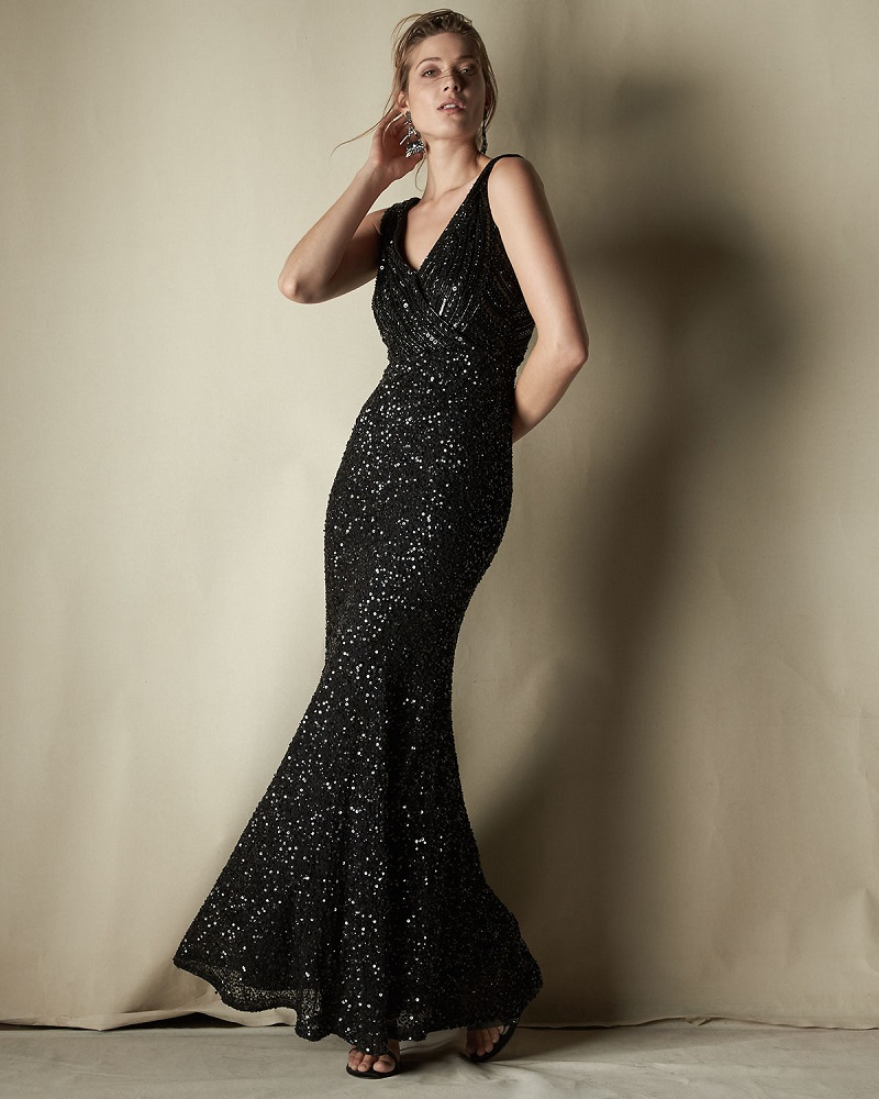 Rachel Gilbert Candence Sequined Gown