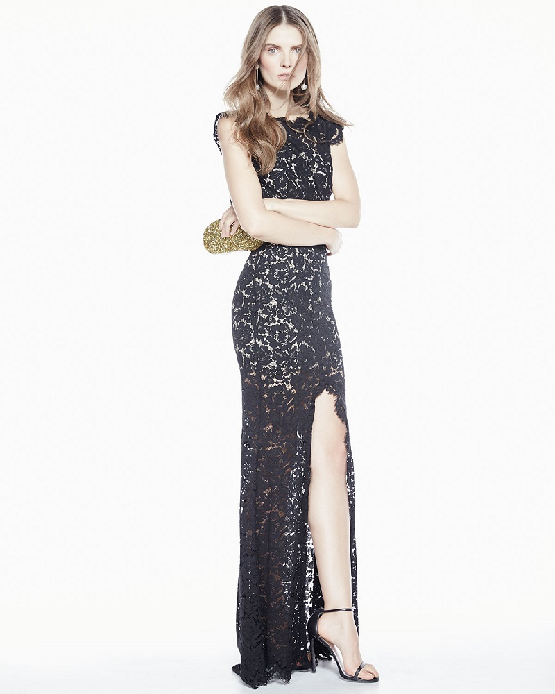 Rachel Zoe Estelle Cutout Lace Maxi Dress