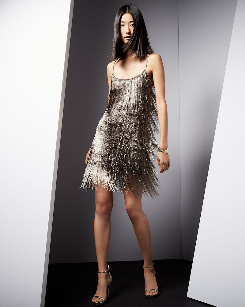 Rachel Zoe Sleeveless Fringe Cocktail Dress