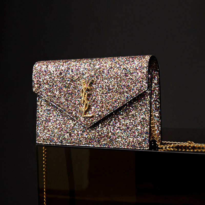 Saint Laurent Glitter Wallet Bag